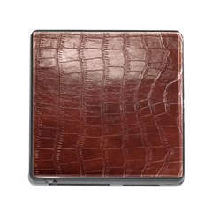 Leather Snake Skin Texture Memory Card Reader (Square)