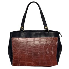 Leather Snake Skin Texture Office Handbags (2 Sides)
