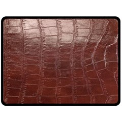 Leather Snake Skin Texture Fleece Blanket (large)