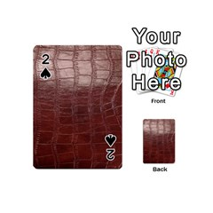 Leather Snake Skin Texture Playing Cards 54 (Mini)