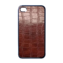 Leather Snake Skin Texture Apple iPhone 4 Case (Black)