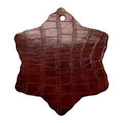 Leather Snake Skin Texture Snowflake Ornament (two Sides)
