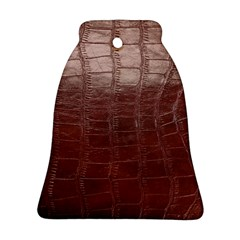 Leather Snake Skin Texture Bell Ornament (Two Sides)
