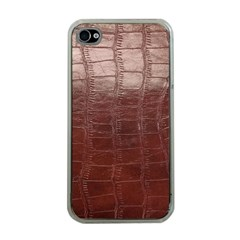 Leather Snake Skin Texture Apple iPhone 4 Case (Clear)
