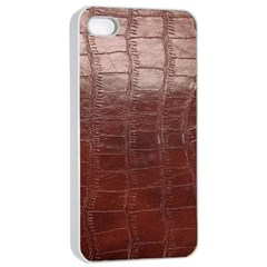 Leather Snake Skin Texture Apple Iphone 4/4s Seamless Case (white)