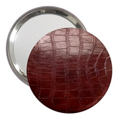 Leather Snake Skin Texture 3  Handbag Mirrors