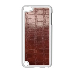 Leather Snake Skin Texture Apple Ipod Touch 5 Case (white)