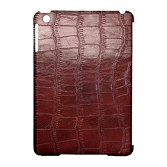 Leather Snake Skin Texture Apple iPad Mini Hardshell Case (Compatible with Smart Cover)