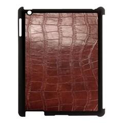 Leather Snake Skin Texture Apple iPad 3/4 Case (Black)