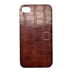 Leather Snake Skin Texture Apple iPhone 4/4S Hardshell Case with Stand