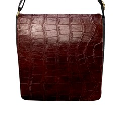 Leather Snake Skin Texture Flap Messenger Bag (l)