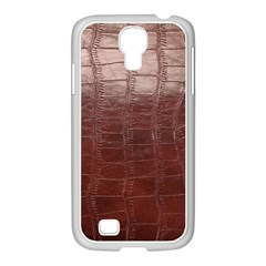 Leather Snake Skin Texture Samsung Galaxy S4 I9500/ I9505 Case (white)
