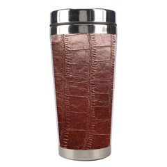 Leather Snake Skin Texture Stainless Steel Travel Tumblers