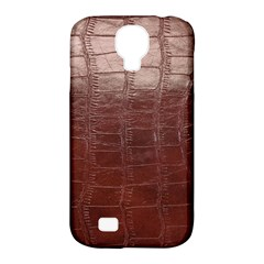 Leather Snake Skin Texture Samsung Galaxy S4 Classic Hardshell Case (pc+silicone)