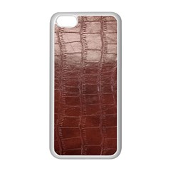 Leather Snake Skin Texture Apple iPhone 5C Seamless Case (White)