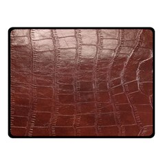 Leather Snake Skin Texture Double Sided Fleece Blanket (small)