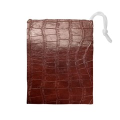 Leather Snake Skin Texture Drawstring Pouches (large)
