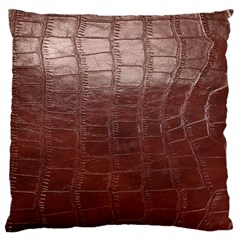 Leather Snake Skin Texture Standard Flano Cushion Case (one Side)