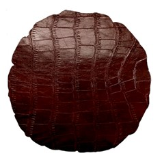 Leather Snake Skin Texture Large 18  Premium Flano Round Cushions