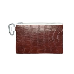 Leather Snake Skin Texture Canvas Cosmetic Bag (S)