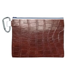 Leather Snake Skin Texture Canvas Cosmetic Bag (L)