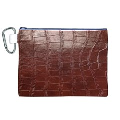 Leather Snake Skin Texture Canvas Cosmetic Bag (XL)