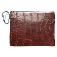 Leather Snake Skin Texture Canvas Cosmetic Bag (XXL)