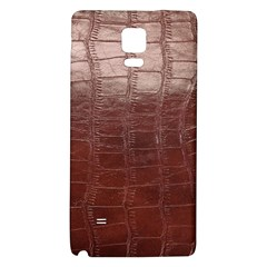 Leather Snake Skin Texture Galaxy Note 4 Back Case
