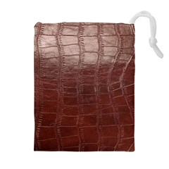 Leather Snake Skin Texture Drawstring Pouches (Extra Large)