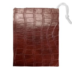 Leather Snake Skin Texture Drawstring Pouches (XXL)