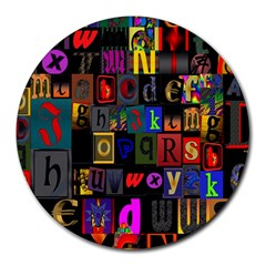 Letters A Abc Alphabet Literacy Round Mousepads