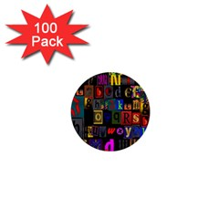 Letters A Abc Alphabet Literacy 1  Mini Buttons (100 pack)