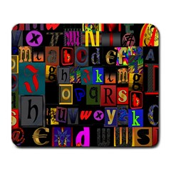Letters A Abc Alphabet Literacy Large Mousepads