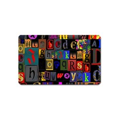 Letters A Abc Alphabet Literacy Magnet (Name Card)