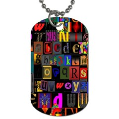 Letters A Abc Alphabet Literacy Dog Tag (One Side)