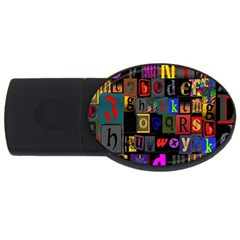 Letters A Abc Alphabet Literacy USB Flash Drive Oval (4 GB)