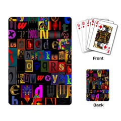 Letters A Abc Alphabet Literacy Playing Card