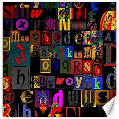 Letters A Abc Alphabet Literacy Canvas 16  X 16