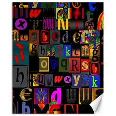 Letters A Abc Alphabet Literacy Canvas 16  x 20