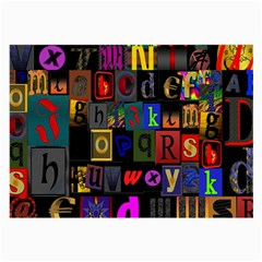 Letters A Abc Alphabet Literacy Large Glasses Cloth (2-Side)