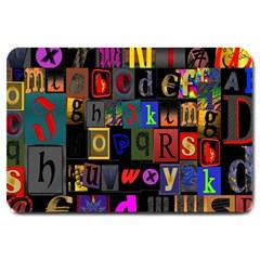Letters A Abc Alphabet Literacy Large Doormat
