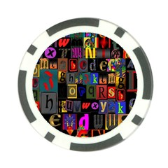 Letters A Abc Alphabet Literacy Poker Chip Card Guard