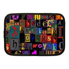 Letters A Abc Alphabet Literacy Netbook Case (Medium)