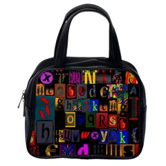 Letters A Abc Alphabet Literacy Classic Handbags (One Side)