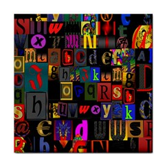 Letters A Abc Alphabet Literacy Face Towel