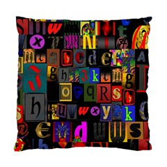 Letters A Abc Alphabet Literacy Standard Cushion Case (One Side)
