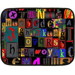 Letters A Abc Alphabet Literacy Fleece Blanket (Mini)