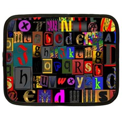 Letters A Abc Alphabet Literacy Netbook Case (XL)