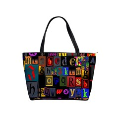 Letters A Abc Alphabet Literacy Shoulder Handbags