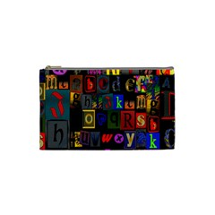 Letters A Abc Alphabet Literacy Cosmetic Bag (Small)